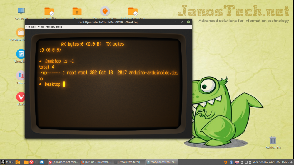 JanosTech net - - Install your own retro / vintage terminal in Linux